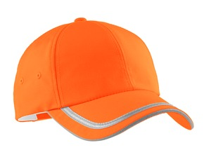 safety orange hat
